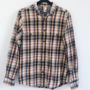 Plectrum Ben Sherman plaid flannel button up shirt